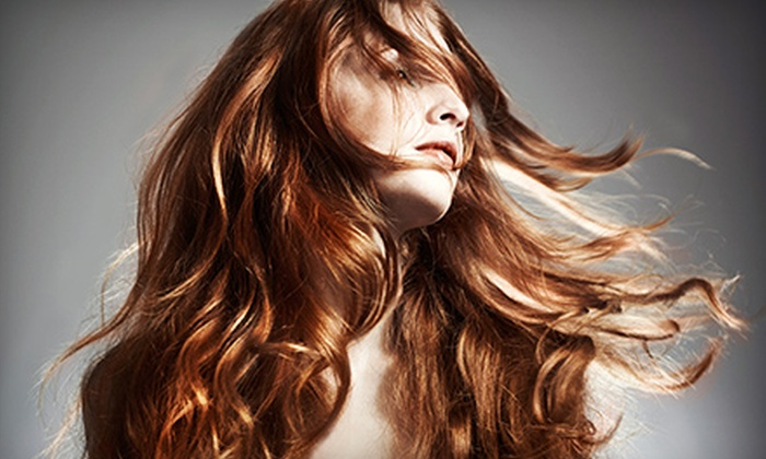 Nava's Hair Studio - Mecca Salon: Haircut with Options for All-Over Color or Full Highlights, or Brazilian Blowout at Nava's Hair Studio (Up to 67% Off)