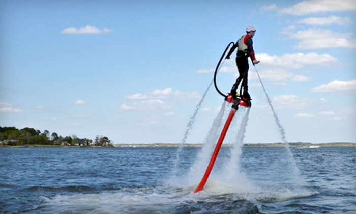 South Texas Flyboard - Montgomery: $75 for 30-Minute Flyboarding Flight at South Texas Flyboard ($150 Value)