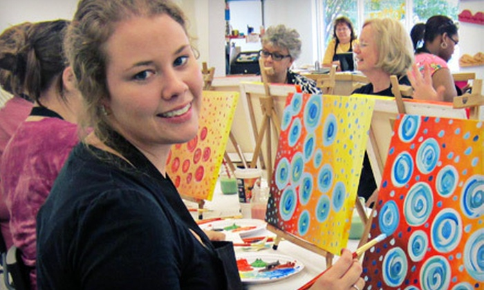 Glazed Expressions - Glazed Expressions: $20 for an Adult BYOB or All Ages Canvas-Painting Session at Glazed Expressions (Up to a $43 Value)