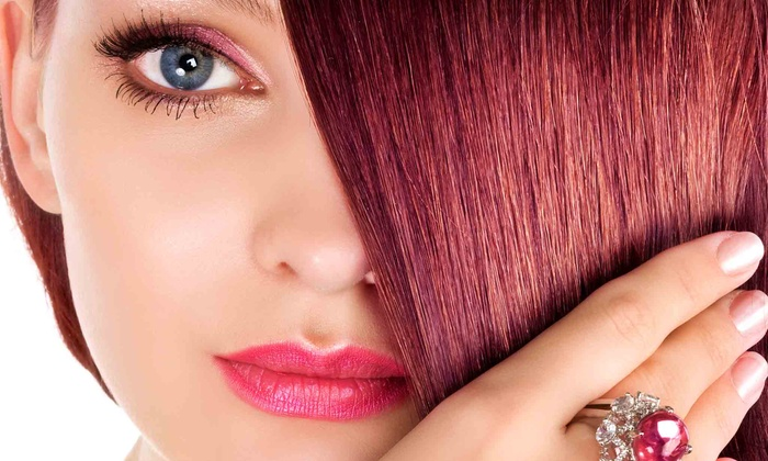 Universal Day Spa - Orlando: Keratin Treatment or Haircut Package from Universal Day Spa (Up to 65% Off)