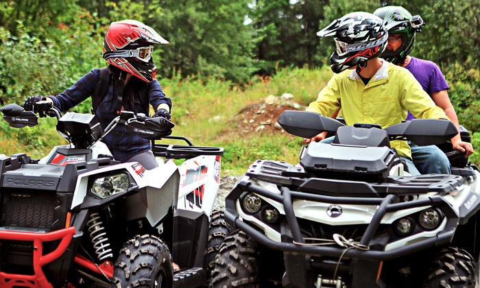 X-motor Rentals Ltd. - Langley: Two-Hour Guided Backcountry ATV or UTV Tours from X-motor Rentals Ltd. (Up to 36% Off). Three Options Available.