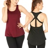 2 Sets of Fitness Active Tank Tops and Leggings
