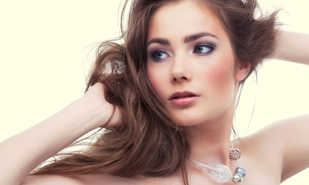Haircut and Style with Conditioning Treatment, or Partial or Full Highlights at Victoria's Hair Studio (Up to 51% Off)