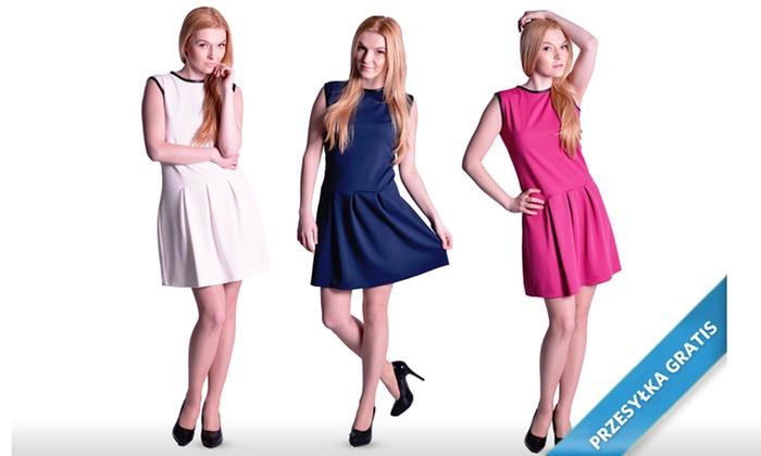 Groupon Goods Global GmbH: Od 49,99 zł: stylowa rozkloszowana sukienka z przesyłką (do -55%)