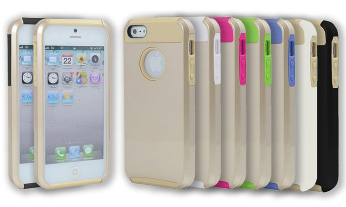 3DLuxe Dual-Layer Gold iPhone 5/5s Case: 3DLuxe Dual-Layer Gold iPhone 5/5s Case.