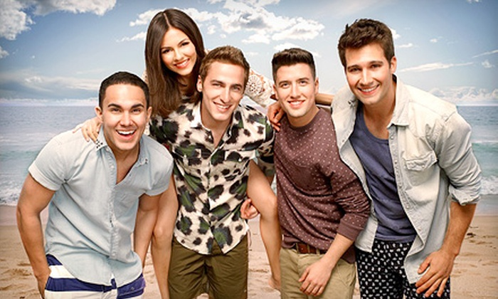 Summer Break Tour: Big Time Rush & Victoria Justice - PNC Music Pavilion: $15 for Summer Break Tour: Big Time Rush & Victoria Justice at Verizon Wireless Amphitheatre on July 9 (Up to $25 Value)