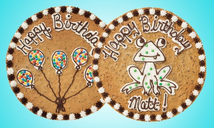 One or Two 12-Inch Round Custom Design Cookie Cakes at Great American Cookies (Up to 46% Off)
