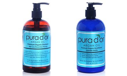 Pura D'or Hair Loss Shampoo or Shampoo and Conditioner Set