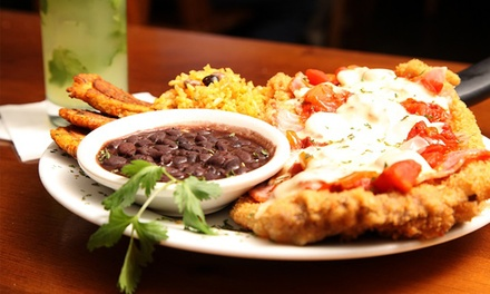 50% off Cuban Food and Drinks at Habana. Two Options Available.