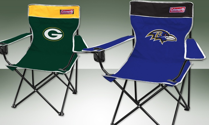 NFL Collapsible Quad Chair Two-Pack: $39.99 for Two NFL Collapsible Quad Chairs ($69.99 List Price). Multiple Teams. Free Shipping and Returns.
