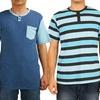 Micros Men's Short-Sleeved Henley Shirts