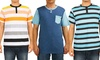 Micros Men's Short-Sleeved Henley Shirts: Micros Men's Short-Sleeved Henley Shirts. Multiple Styles Available. Free Returns.
