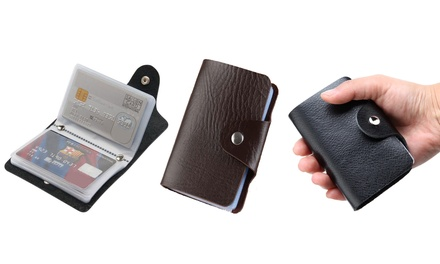 Unisex 24-Slot Card Holder
