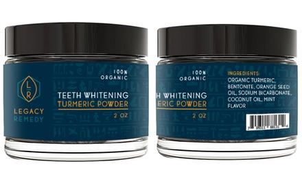 Legacy Remedy Organic Turmeric Teeth Whitening Powder (2 Oz.)