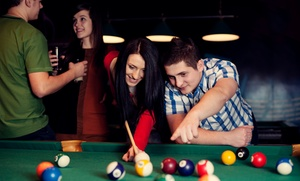 Masters Billiards: Two Hours of Pool and Food and Drink for Two or Four at Masters Billiards (53% Off)