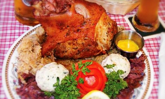 German Schnitzel Haus - Girvin: German Cuisine for Dinner or Lunch at German Schnitzel Haus (Half Off). Three Options Available.