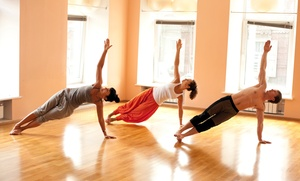 Krysia Energy Yoga: Yoga, Barre, or Zumba Classes at Krysia Energy Yoga (Up to 71% Off). Four Options Available.