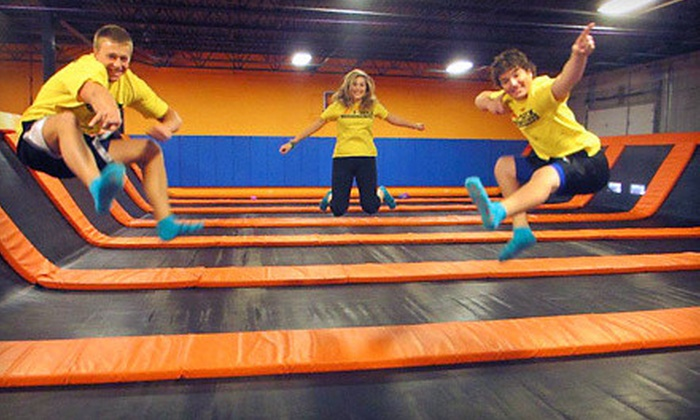 AirMaxx Trampoline Park - Eden Prairie: Trampoline and Laser-Tag Package for Two, or All-You-Can-Play Package for Two at AirMaxx Trampoline Park (Up to 52% Off)