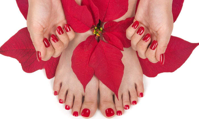 Nail Designs by Kim - South Oklahoma City: Gel Manicure, Regular Pedicure, or Full Set of Gel or Acrylic Nails at Nail Designs by Kim(Up to 51% Off)