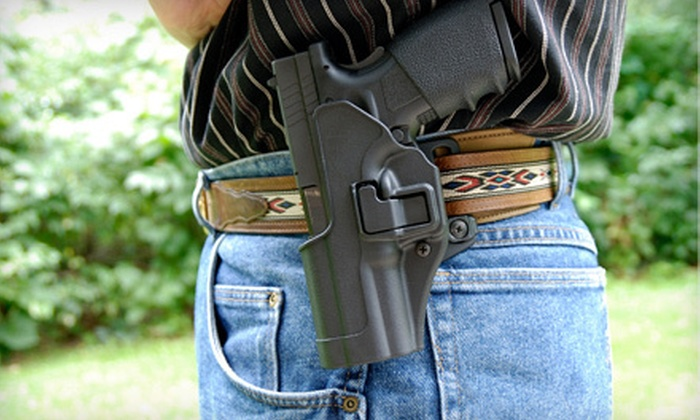 Weapons License - Multiple Locations: $45 for a Concealed-Weapon Class with Range Time at Weapons License ($100 Value)