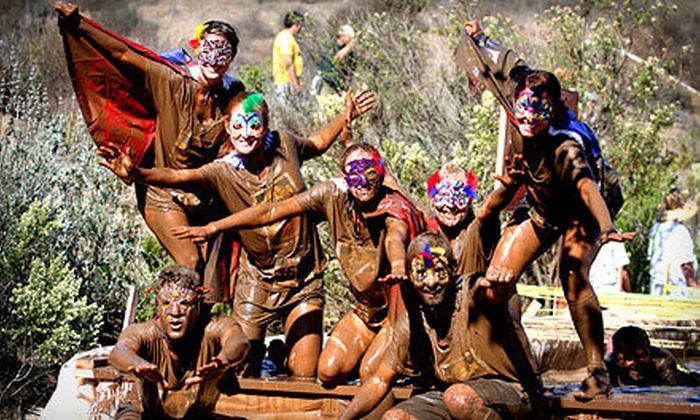 Conejo Valley Halloween Mud Run - Newbury Park: Mudpit Tug-O-War Admission for Four from Conejo Valley Halloween Mud Run on October 28 (Half Off). 4 Options Available.