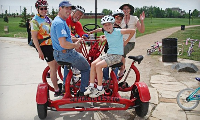 SeptaCycles - Downtown: One- or Three-Hour Rental or a Guided Tour on a Seven-Seater Bike from SeptaCycles in Fort Collins (Up to 56% Off)