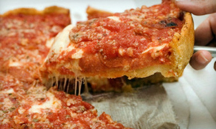 East of Chicago Pizza - Southwyck: $8 for All-You-Can-Eat Pizza Buffet and Soft Drinks for Two at East of Chicago Pizza ($16 Value)