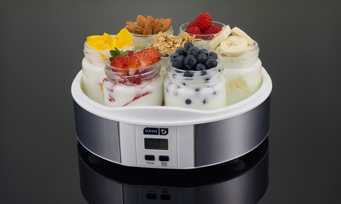 Dash Yogurt Maker: $24.99 for a Dash Seven-Jar Yogurt Maker ($59.99 List Price). Three Colors Available. Free Shipping and Free Returns.