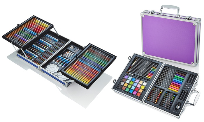 Artworx 70- or 125- Piece Aluminium Art Case from £10.99