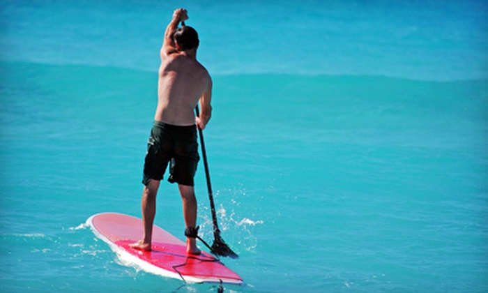 Poseidon Stand Up Paddle Boards - Downtown Santa Monica: Stand Up Paddleboard Rental or Two-Hour Excursion for Five at Poseidon Standup Paddle in Santa Monica (Up to 73% Off)