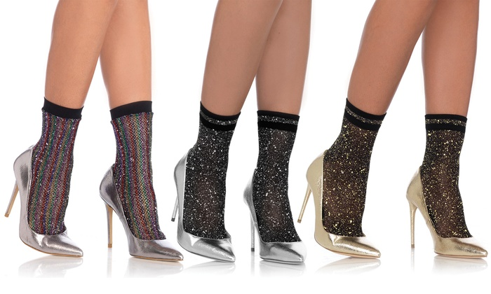 9e0563408d566 Up To 20% Off on Women's Lurex Fishnet Anklets | Groupon Goods
