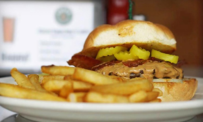 Leff's Lucky Town - Wauwatosa: Burgers and Beer for Two or Four Monday–Wednesday or Thursday–Sunday at Leff's Lucky Town (Up to 57% Off)