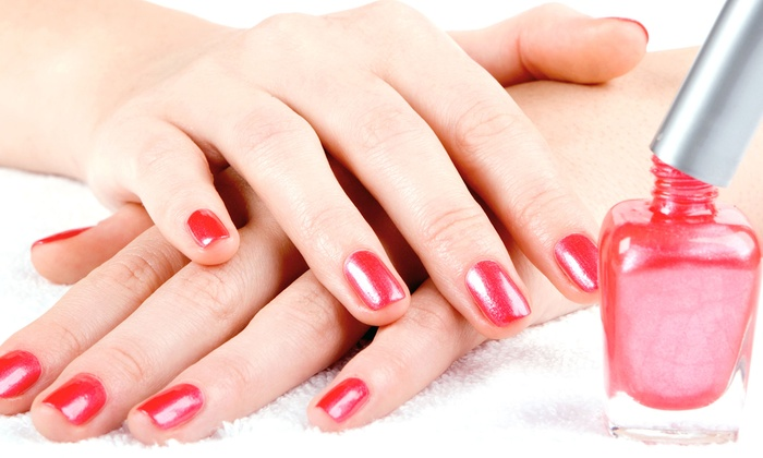 Tiffany's International Salon - Tiffany's International Salon: $32 for OPI Gel Manicure and Spa Pedicure at Tiffany's International Salon ($70 Value)