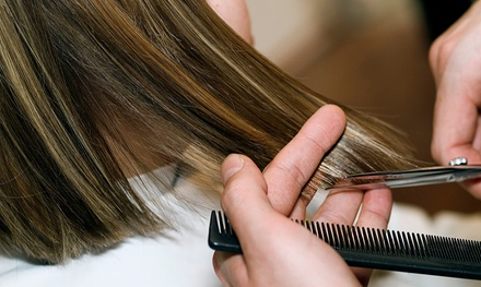 Haircut with Shampoo, Conditioning, and Option of Blow-Dry, Color, or Partial Foils at Salon Bella Mar (Up to 52% Off)