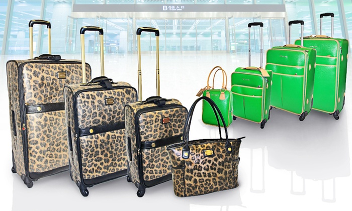 Adrienne Vittadini Luggage Set: $239 for an Adrienne Vittadini Luggage Set ($1,320 List Price). Four Styles Available. Free Shipping and Free Returns.