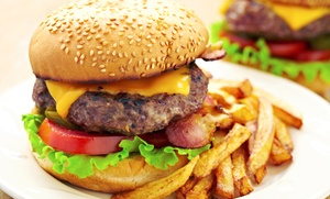 Basement Burger Bar: Pub Food and Drinks at Basement Burger Bar (31% Off).