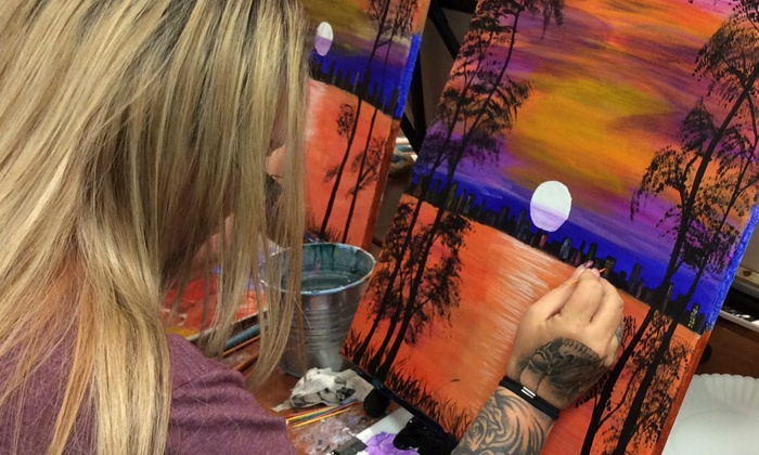 Graffiti Paintbar - Nashua: Regular, Family, or Mimosa Morning Group Painting Class at Graffiti Paintbar (Up to 50% Off)