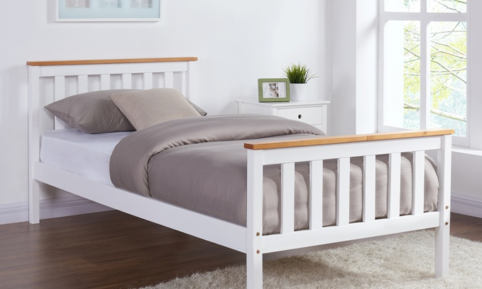 Pine Wood Bedframe with Optional Mattress
