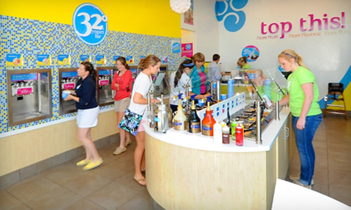 32 Degrees A Yogurt Bar - East Louisville: $12 for Two Groupons, Each Good for $12 Worth of Frozen Yogurt at 32 Degrees A Yogurt Bar ($24 Total Value)