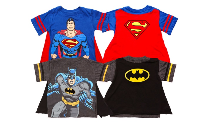 Boy 39 s superman and batman t shirt 2 pack size 2t groupon Boys superhero t shirts