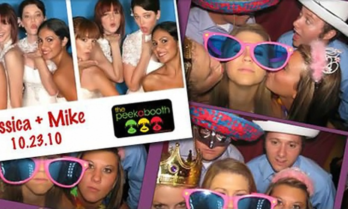 The Peekabooth - Moorpark: Three-Hour or Four-Hour Photo-Booth Rental from The Peekabooth (Up to 55% Off)