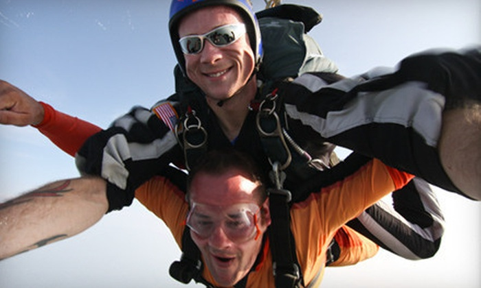 Skydive Alabama - Vinemont: Skydiving Tandem Jump and AFF Ground School for One or Two  at Skydive Alabama (Up to 55% Off)