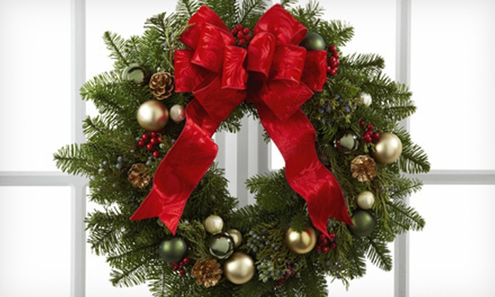 Abby Florist - Clearbrook Commercial: Live Holiday Wreath or $12 for $25 Worth of Flowers, Plants, and Gifts at Abby Florist