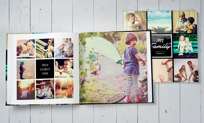 Up to 100-Page Personalised Portrait or Landscape ImageWrap Hardcover Photobook from Photobook UK (Up to 66% Off)