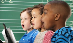 The Song Spot: One or Three Months of Kindermusik or Glee Club Classes at The Song Spot (Up to 53% Off)
