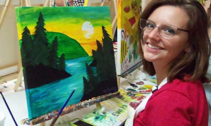 Picasso's Corner - Pleasantville: BYOB Painting Class for 1, 2, or 4 Adults, or Private Party for Up to 10 at Picasso's Corner (Up to 78% Off)