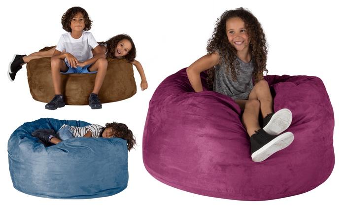 Prime Giant Memory Foam Bean Bag Groupon Goods Uwap Interior Chair Design Uwaporg