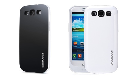 iCanonic Galaxy S3 Battery Case in White or Black.