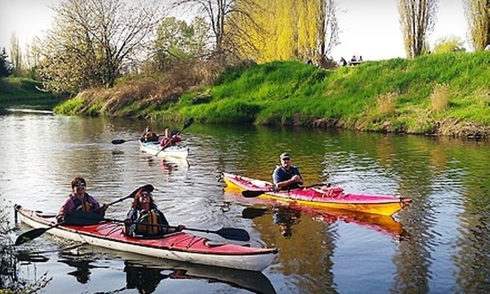 Outdoor Adventure Center - Multiple Locations: Redhook River Kayak Tour or Lopez Island Sea Kayak Tour for One or Two from Outdoor Adventure Center (Up to 44% Off)