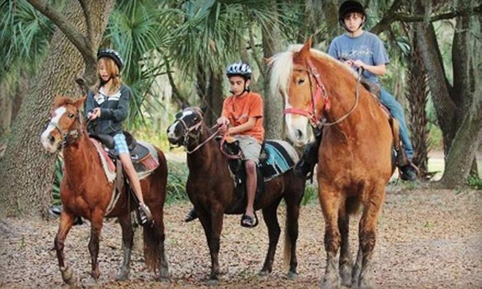 HorsePower for Kids - Town N County Alliance: $25 for Two Guided, One-Hour Horseback Trail Rides at HorsePower for Kids ($50 Value)